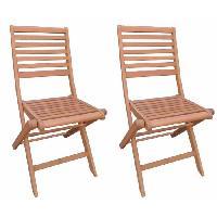 Chaise De Jardin - Fauteuil - Tabouret - Canape Lot de 2 chaises pliantes de jardin en eucalyptus FSC - 57.5x46.5x90cm Generique