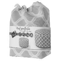 Chaise De Jardin - Fauteuil - Tabouret - Canape SOLYS Pouf gonflable Torino - Gris