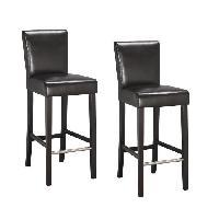 Chaise ELVIS Lot de 2 tabourets de bar - Simili marron - Contemporain - L 39 x P 49.5 cm - Generique