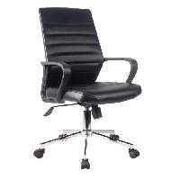 Chaise EXECUTIVE Chaise de bureau Simili noir - L 59 x P 61 x H 86-96 cm - Aucune