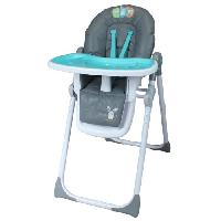Chaise Haute - Coussin Chaise Haute - Plateau Chaise BAMBIKID Chaise Haute Multiposition Polo et Ses Amis Turquoise