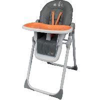Chaise Haute - Coussin Chaise Haute - Plateau Chaise BAMBIKID Chaise Haute Multipositions Les 3 Copains Orange
