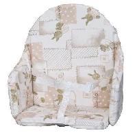 Chaise Haute - Coussin Chaise Haute - Plateau Chaise BAMBISOL Coussin de chaise avec sangles
