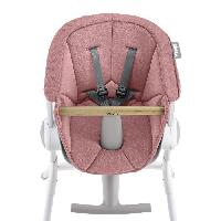 Chaise Haute - Coussin Chaise Haute - Plateau Chaise BEABA Assise chaise haute UpetDown pink