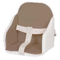 Chaise Haute - Coussin Chaise Haute - Plateau Chaise CANDIDE Coussin de Chaise PVC Taupe-Blanc