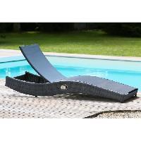 Chaise Longue - Transat - Bain De Soleil Transat de jardin en resine et textilene