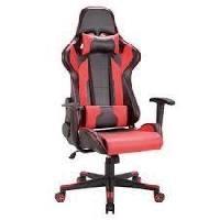Chaise TEXAS Chaise de bureau Simili Rouge - L 69 x P 63 x H 117-125.5 cm - Aucune