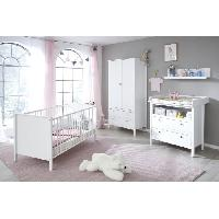 Chambre Complete Bebe TRENDTEAM Chambre Bebe Ole 3 Pieces - Lit + Armoire + Commode