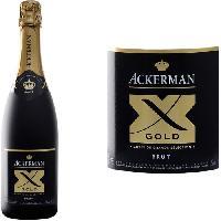 Champagne - Petillant - Mousseux Ackerman Vin Effervescent X Gold Blanc Brut 75cl Akerman