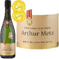 Champagne - Petillant - Mousseux Arthur Metz Crément d'Asace Brut Millésimé - Saveur 2015