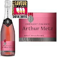 Champagne - Petillant - Mousseux Arthur Metz Rose - Cremant d'Alsace