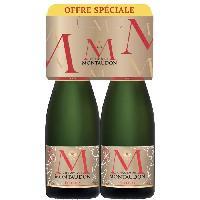 Champagne - Petillant - Mousseux Champagne Montaudon Elixiris - 2 bouteilles de 75 cl