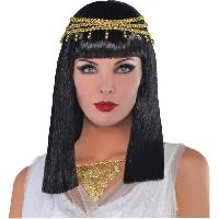 Chapeau - Perruque - Couvre Chef - Accessoire De Tete AMSCAN Perruque Reine Egyptienne