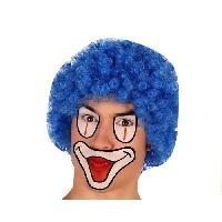 Chapeau - Perruque - Couvre Chef - Accessoire De Tete Perruque Clown Bleu