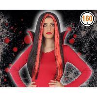 Chapeau - Perruque - Couvre Chef - Accessoire De Tete Perruque vampire Adultes Femmes - Rouge