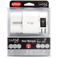 Chargeur - Adaptateur - Alimentation Photo - Optique HAHNEL HLUNIPALPLUS Chargeur pour batteries Li-Ion 3.6 V. 3.7 V. 7.2 V et 7.4 V. AA. AAA Ni-MH et les mobiles et tablettes via USB