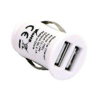 Chargeur - Adaptateur Alimentation Telephone Chargeur ALLUME-CIGARE BLANC GRAB'N'GO 2XUSB - ADNAuto