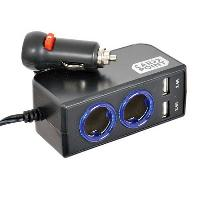 Chargeur - Adaptateur Alimentation Telephone Chargeur DOUBLE USB 4.8A 1224V + PRISES 120W - ADNAuto