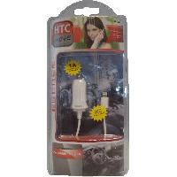 Chargeur - Adaptateur Alimentation Telephone Chargeur allume-cigare iPhone 56 integre 1A blanc HTC MOVE - ADNAuto