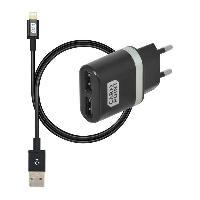 Chargeur - Adaptateur Alimentation Telephone Kit DE CHARGE USB MURAL 2 EN 1 - ADNAuto