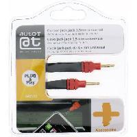 Chargeur - Adaptateur Secteur - Allume Cigare - Solaire AUTO-T Cordon Jack/Jack 3.5mm 1.2m smartphone/MP3