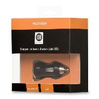 Chargeur - Adaptateur Secteur - Allume Cigare - Solaire D2 Chargeur allume-cigare USB - 1 port - Noir - We