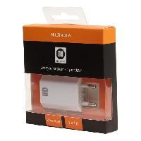 Chargeur - Adaptateur Secteur - Allume Cigare - Solaire D2 Chargeur secteur USB 1 port - Blanc - We