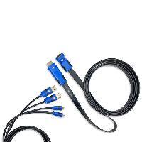 Chargeur - Cable De Recharge Kit de charge Premium 'n' Connect pour PS4