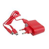 Chargeur - Cable De Recharge Multi Chargeur secteur + Cable USB DS - 1M - Rouge