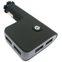 Chargeur Chargeur AC 12 24 V 4 USB - 6.8 A - Voyant bleu - Circuit de controle de charge Smart IC