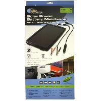 Chargeur De Batterie Chargeur de batterie solaire 12v - 2.4w - 138mA Ring