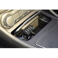 """Chargeur M500 Chargeur AC 12/24V 4 USB - 4.8A (2x2.4A) - Voyant bleu - Circuit de contrôle de charge """"Smart IC"""""""