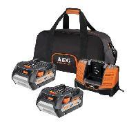 Chargeur Pour Machine Outil AEG Pack de chargeur et 2 batteries SETLL1850BL - 18 V - 5 Ah Li-ION