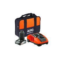 Chargeur Pour Machine Outil AEG Pack de chargeur rapide multifonctions & batterie SETL1240BLK - 12 V - 4 Ah Li-ION