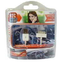 Chargeurs Induction Qi Chargeur USB iPhone 4 blanc MOVE - ADNAuto
