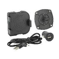 Chargeurs Induction Qi Support Universel grille aeration avec chargeur Induction Qi 65-94mm - ADNAuto
