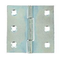 Charniere - Fiche - Paumelle D'ameublement - Pivot 6 charnieres carrees en acier - 30 x 30 mm