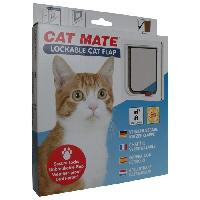 Chatiere - Trappe - Porte PET MATE Chatiere verrouillable 304W - Blanc - Pour chat