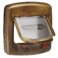 Chatiere - Trappe - Porte PETSAFE Porte Staywell Deluxe manuelle 4 positions - Brun - Pour chat