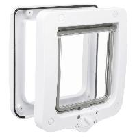 Chatiere - Trappe - Porte TRIXIE Chatiere 4 positions 20 x 22 cm blanc