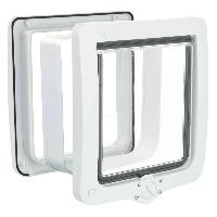 Chatiere - Trappe - Porte TRIXIE Chatiere 4 positions XL 24 x 28 cm blanc
