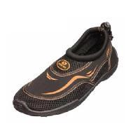 Chausson De Plongee SALVAS Chaussures de Plage Noir Orange - 35