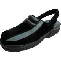 Chaussure de securite Clack nubuck noir et gris maintient arriere P40