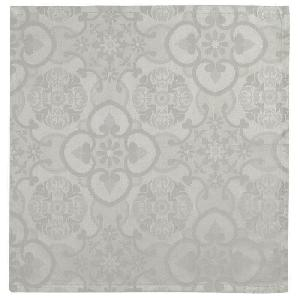 Chemin De Table 6 serviettes de table jacquard Faro 47 x 47 cm - Sepia