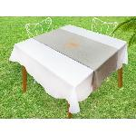 Chemin de table Baguette - 40x140 cm - Gris et or