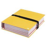 Chemise - Sous-chemise Chemise a sangle sans rabats extensible - 24x32 - Papier toile - Fermeture scratch - Jaune