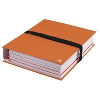 Chemise - Sous-chemise Chemise a sangle sans rabats extensible - 24x32 - Papier toile - Fermeture scratch - Orange