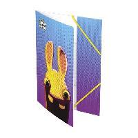 Chemise - Sous-chemise LES LAPINS CRETINS Chemise a élastique - 3 rabats - 24 x 32 cm - 3 décors aléatoires - Generique