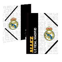 Chemise - Sous-chemise REAL MADRID Chemise A4 183RMA108TRA - Carton - 3 rabats - Fermeture élastique - 24 x 32 cm - Generique