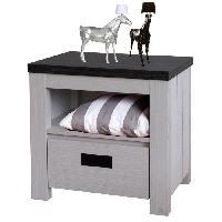 Chevet BERNADO Chevet classique blanc et noir - L 50 cm - Generique